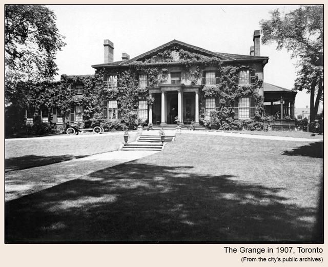 historic photo of the grange toronto