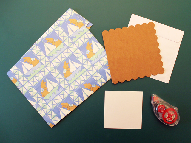 supplies-to-make-greeting-card-from-gift-wrapping-paper