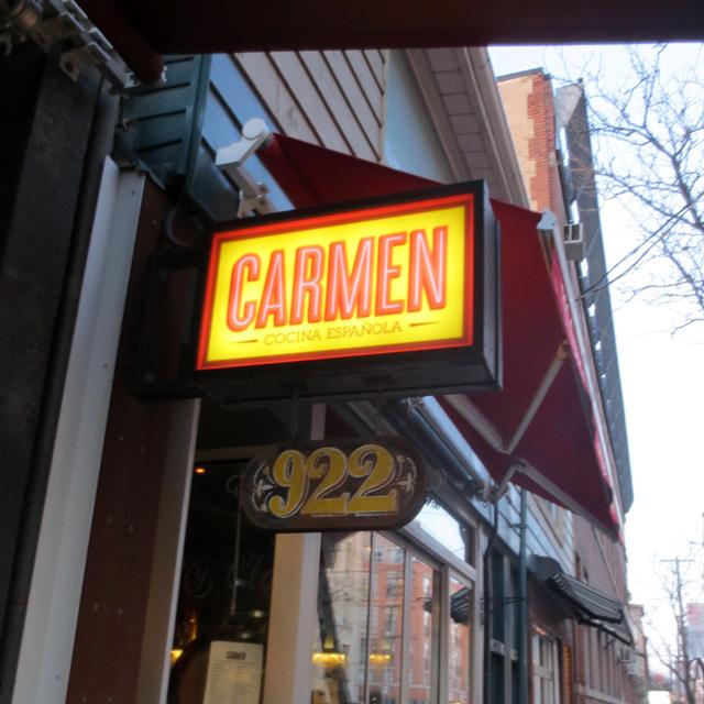 carmen spanish restaurant sign queen street west toronto
