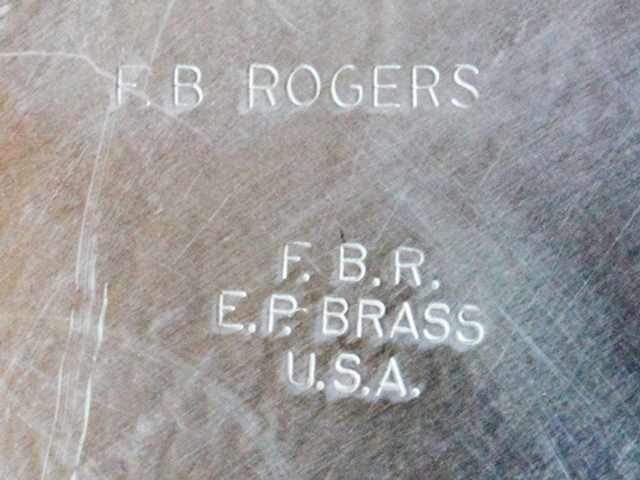 fb rogers silver company stamp on plated tray