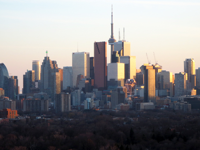 toronto skyline as seen from the east