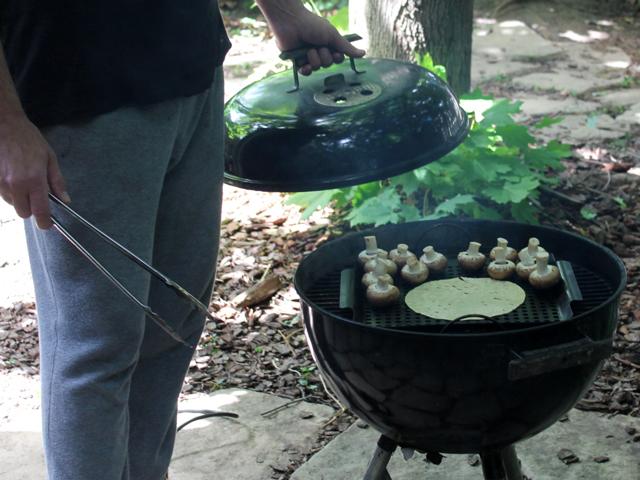 barbecuing-papadum