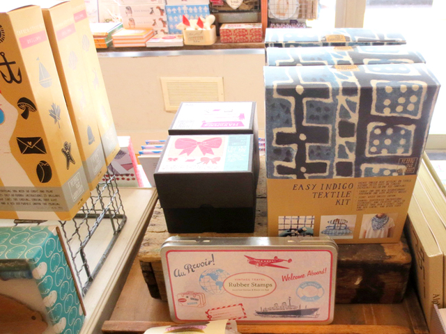 indigo textile kit and other crafting gifts at kid icarus shop kensington market toronto