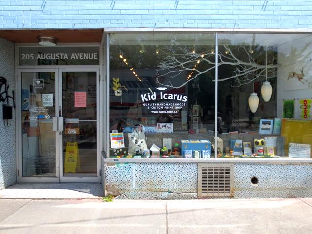 kensington market toronto kid icarus printing and retail shop