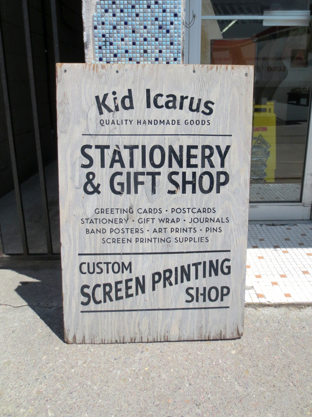 kid icarus quality handmade goods and custom print shop kensington market toronto