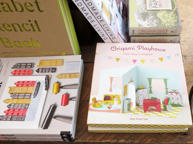 paper crafting books at kid icarus shop in kensington market toronto