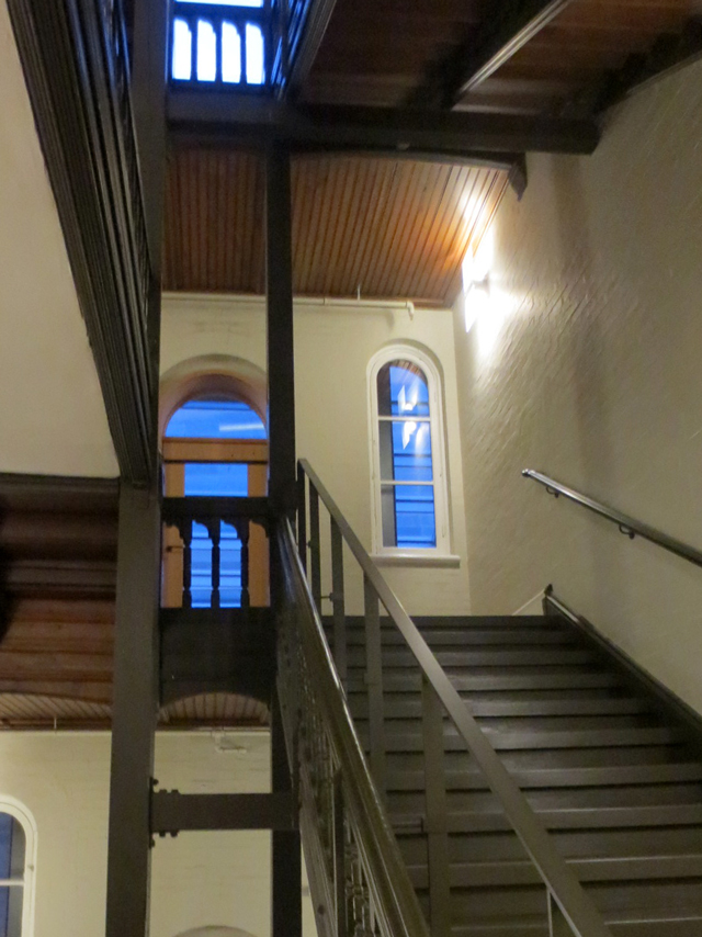 staircase in the royal conservatory of music building toronto