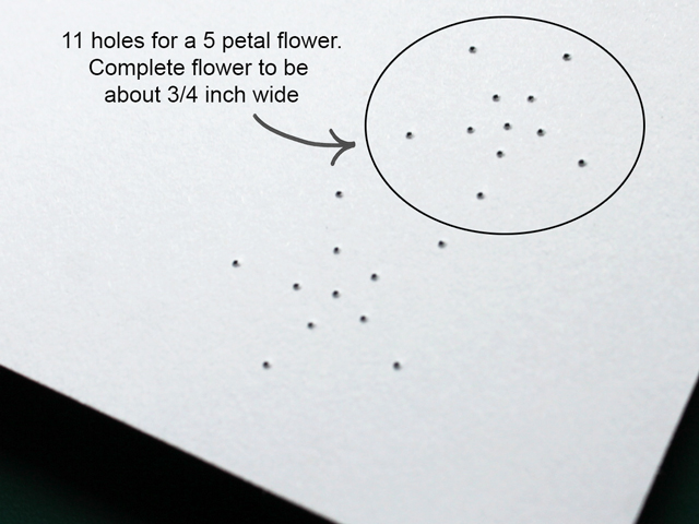 embroidery-on-paper-holes-for-a-lazy-daisy