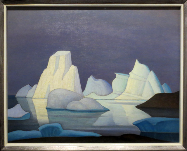 grounded icebergs painting by lawren harris displayed at art gallery of ontario toronto exhibit the idea of north