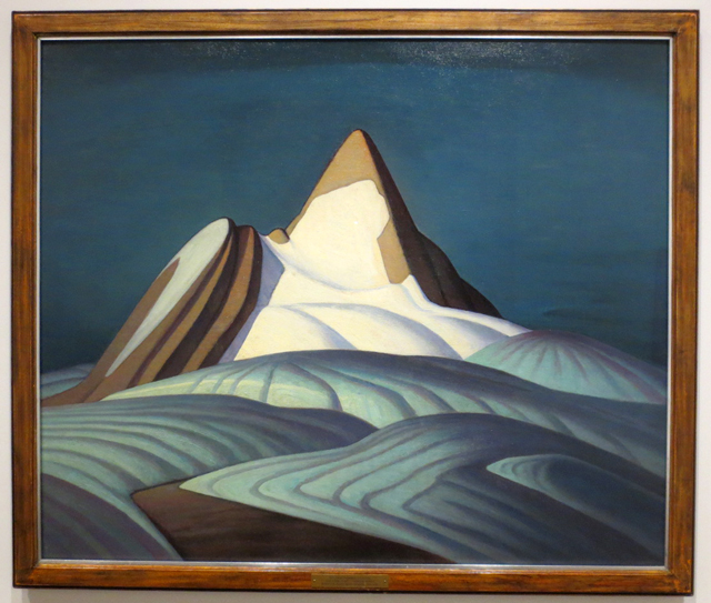 lawren harris group of seven painting isolation peak rocky mountains on display at ago exhibit the idea of north
