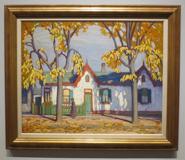 lawren harris painting houses on st patrick street toronto ago exhibit