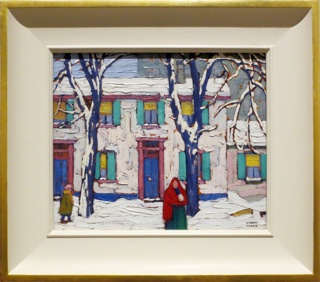 lawren harris painting winter in the ward on display at steve martin curated exhibit the idea of north ago toronto