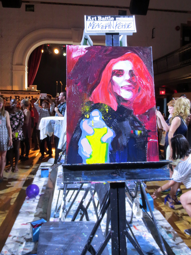 meaghan-kehoe-first-round-painting-art-battle-semi-finals-toronto