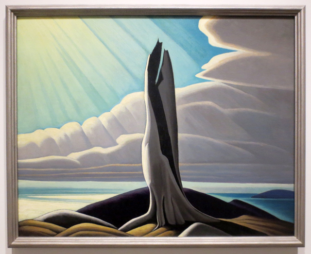 north-shore-lake-superior-painting-by-lawren-harris-on-display-in-toronto-ago-idea-of-north-exhibit-curated-by-steve-martin