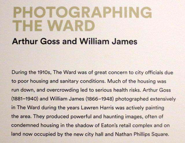 note about historic photographs in the ward toronto