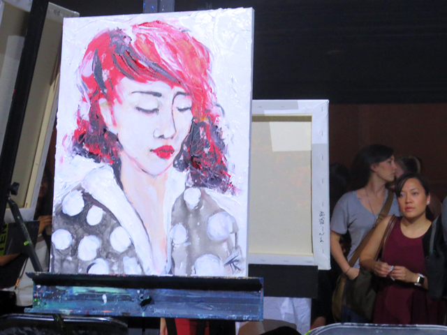 painting-by-theodora-roman-art-battle-toronto
