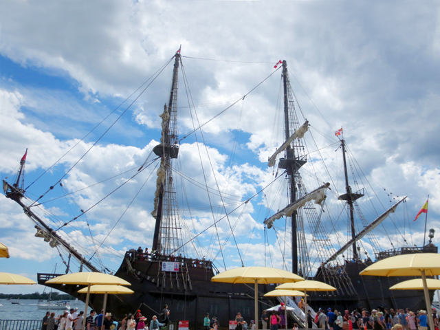 spanich galleon tall ship in toronto harbour
