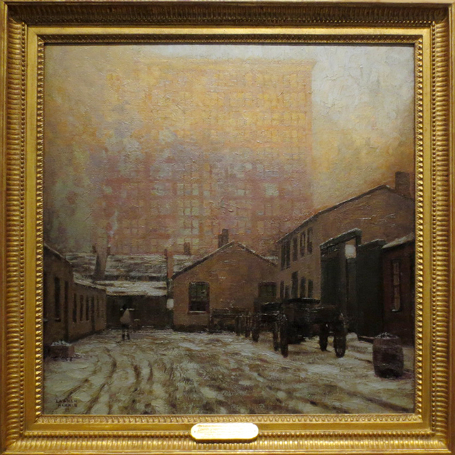 the eatons manufacturing building painting by lawren harris toronto ago exhibit