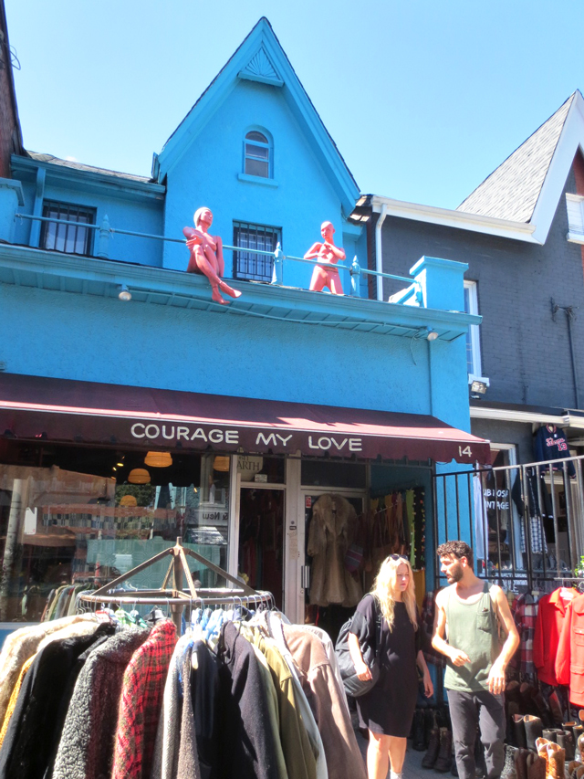 courage my love vintage shop kensington avenue toronto