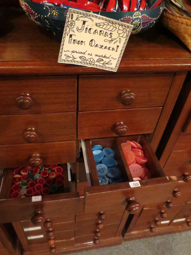 drawers filled with small vintage things courage my love kensington market toronto