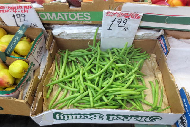 green beans in kensington market