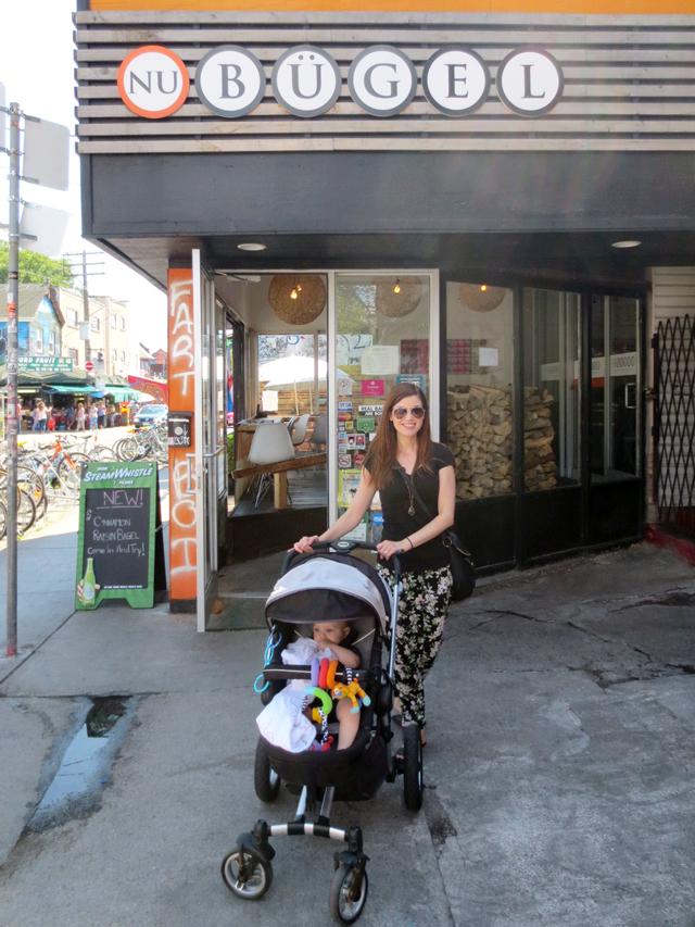 outside nu bugel bagel shop restaurant kensington market toronto