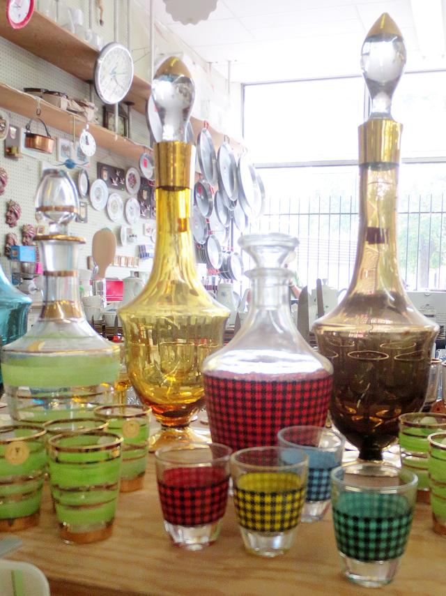 vintage glasswear in smart wear kensington market toronto