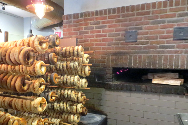 wood burning bagel oven in nu bagel kensington market toronto