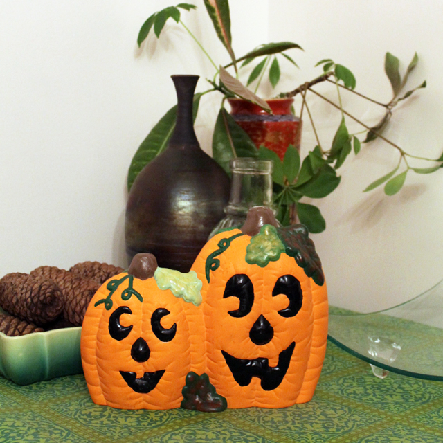 ceramic pumpkin pottery piece