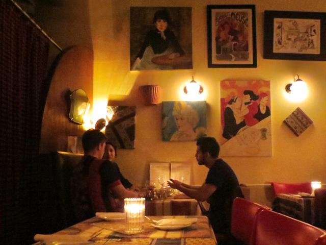 dinner at la palette restaurant queen street west toronto