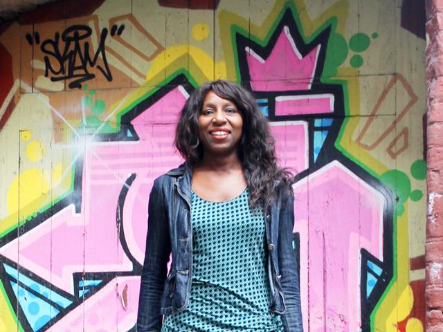 in graffiti doorway