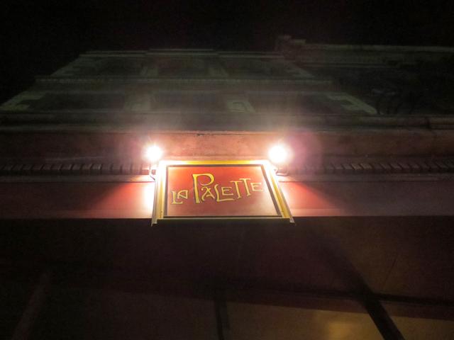 la palette restaurant sign queen street west toronto