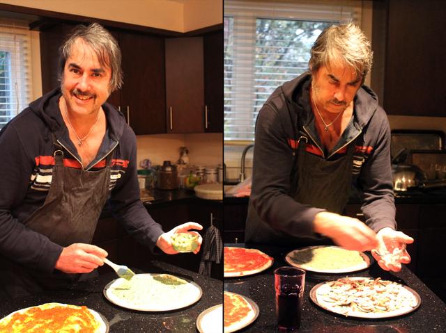nick making pizza