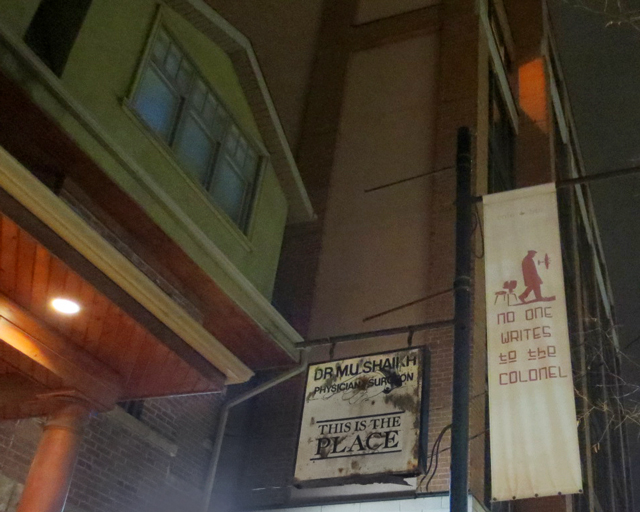 no-one-writes-to-the-colonel-bar-sign-college-street-toronto