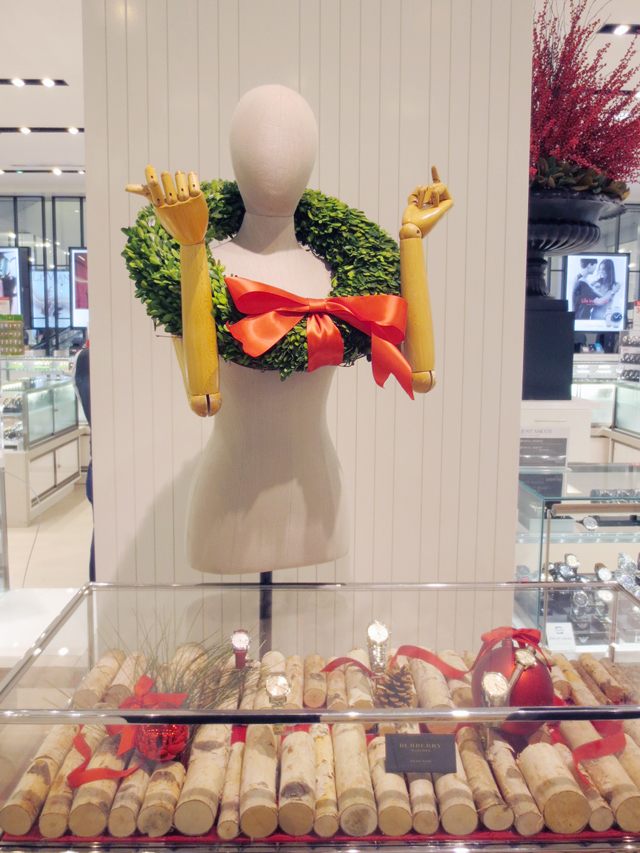 christmas decor at the bay store jewellery department downtown toronto