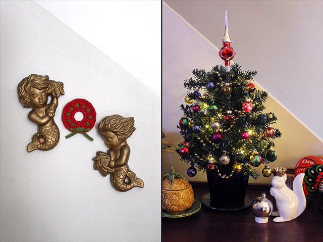 christmas decorating sideboard