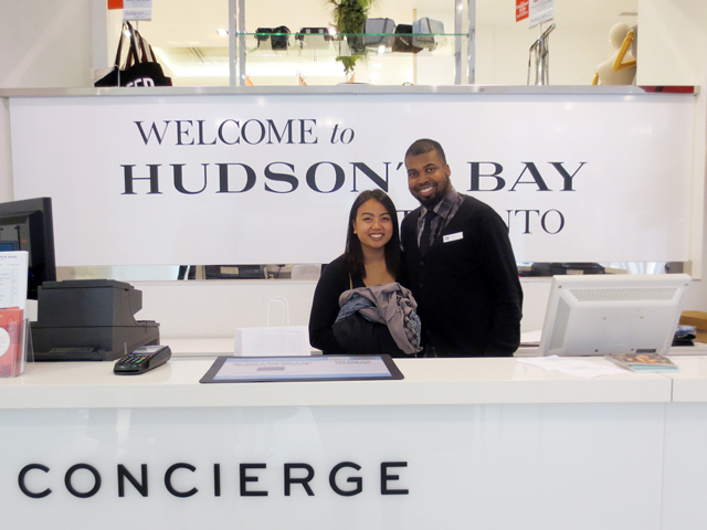 consierge at the husdons bay store toronto downtown