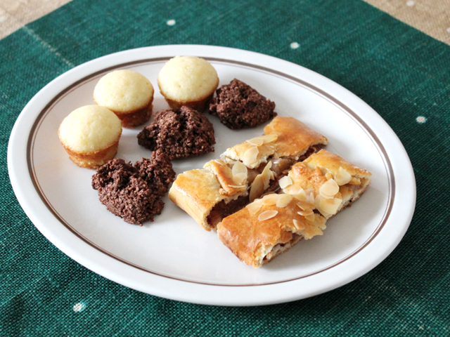 homemade apple strudel and other home baked treats