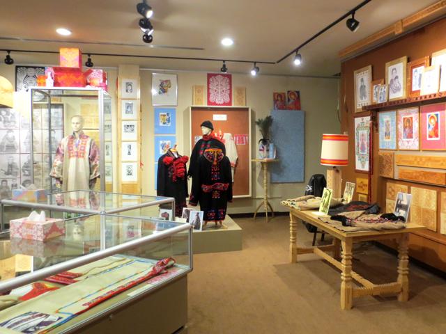 artist dave melnychuk work on display at ukrainian museum of canada ontario branch in toronto