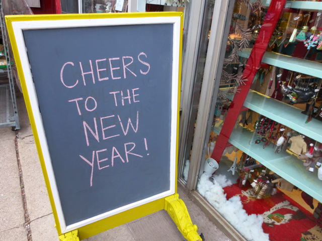 cheers to the new year sign bloor street west toronto