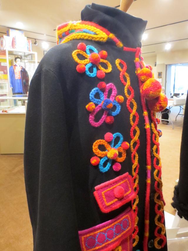 details of coat embellished by artist dave melnychuk ukranian art and craft