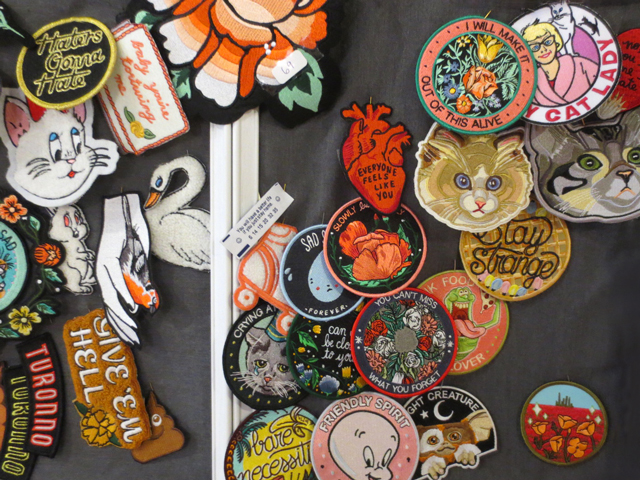 fabric patches at juxtapose gift shop bloor street west toronto