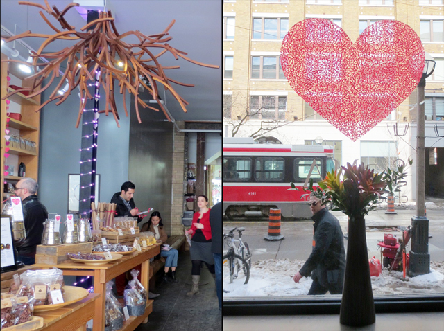 at soma chocolate shop on valentines day king street west toronto