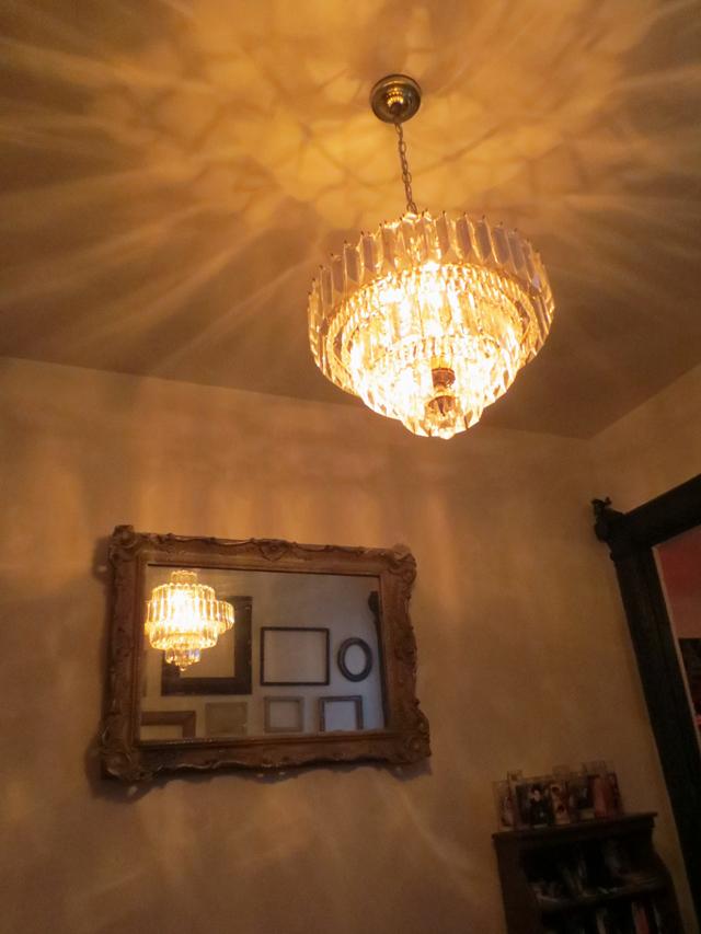 chandelier at restaurant