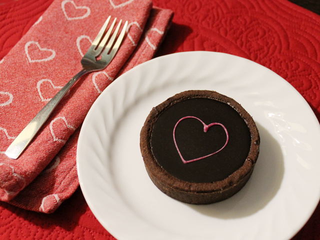 chocolate tart from dufflet queen street west toronto for valentines day
