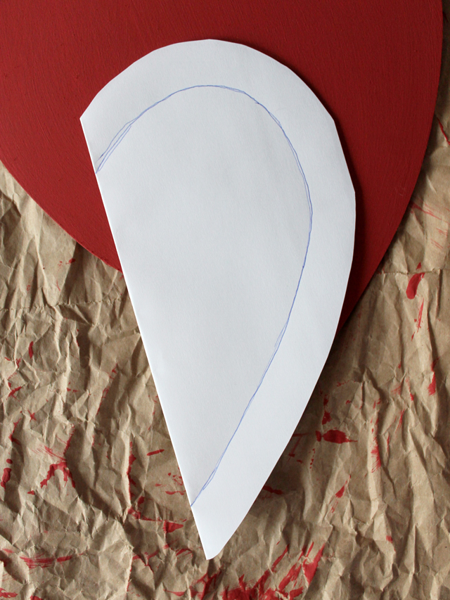 creating a pattern for a smaller heart