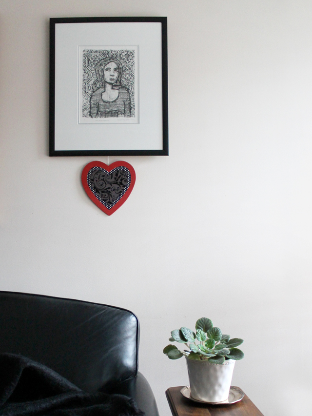 easy heart shaped wall decoration for valentines day