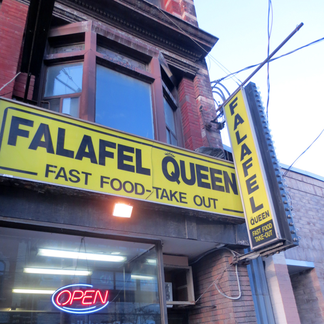 falafel queen on queen street west toronto near bathurst