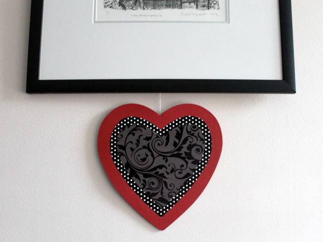 handmade valentine decoration wooden heart to hang on wall diy