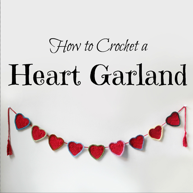 how to crochet a heart garland free pattern valentine decoration